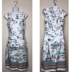 Chetta B Paris City Print White Dress
